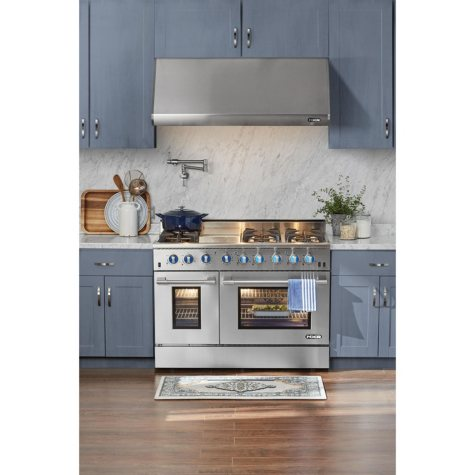 """NXR Elite Stainless-Steel 48"""" Gas Range with Convection Oven"""
