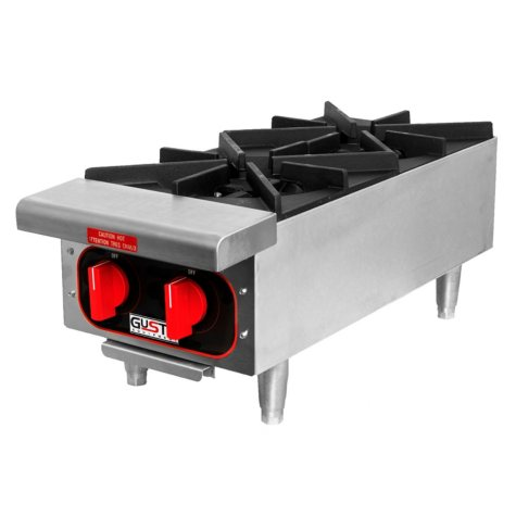Gusto Natural Gas Countertop Hot Plate (Various Sizes)