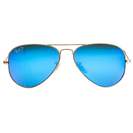 24da8d4814 Ray-Ban Aviator Flash Polarized Sunglasses (Choose a Color) - Sam s Club