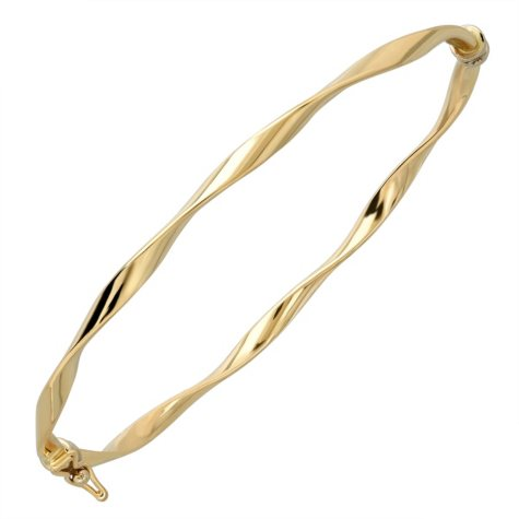 "7"" Twisted Bangle in 14K Yellow Gold"