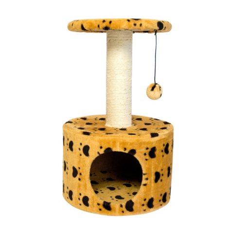 Iconic Pet Paw Print Sisal Cat Scratching Condo, Beige