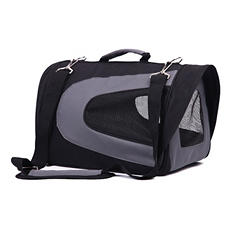 Iconic Pet FurryGo Universal Collapsible Pet Airline Carrier, Black - Small