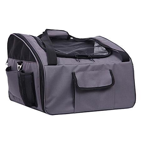 Iconic Pet FurryGo Luxury Pet Booster Seat, Dark Grey (Large)