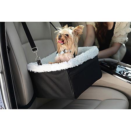 Iconic Pet FurryGo Adjustable Luxury Pet Car Booster Seat, Black (Large)