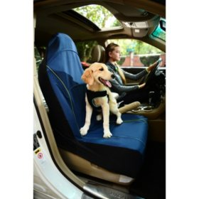 Iconic Pet FurryGo Pet Single Car Seat Cover, Navy Blue