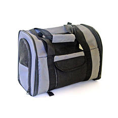 Iconic Pet FurryGo Luxury Pet Travel Backpack/Carrier, Dark Gray