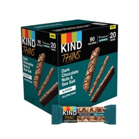 KIND Thins Gluten-Free Bars, Dark Chocolate Nuts & Sea Salt (20 pk.)
