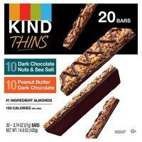 KIND Thins Gluten-Free Bars, Variety Pack (14.8 oz., 20 pk.)