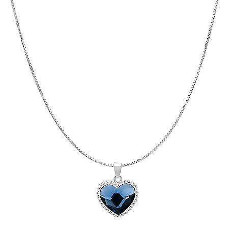 Swarovski Crystal Heart Pendant in Sterling Silver