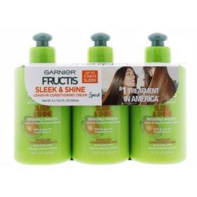 Garnier Fructis Sleek & Shine Intensely Smooth Leave-in Conditioner (10.2 fl. oz., 3 pk.)