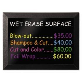 MasterVision - Kamashi Wet-Erase Board, 36 x 24 -  Black Frame