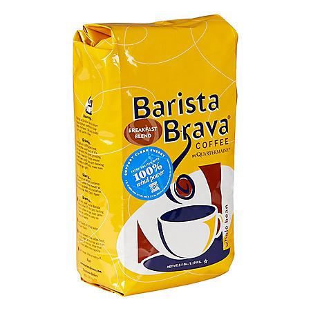 Barista Brava by Quartermaine Whole Bean Coffee, Breakfast Blend (40 oz.)