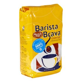 Barista Brava by Quartermaine Whole Bean Coffee, Breakfast Blend (40 oz.)