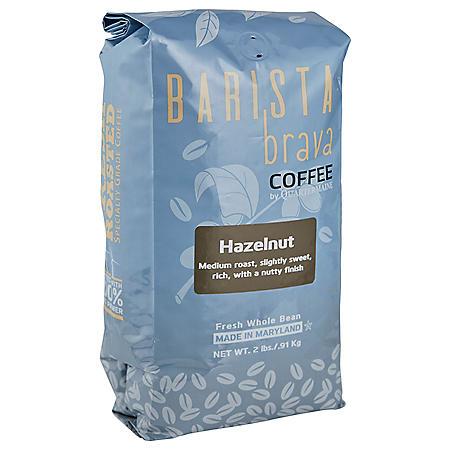 Barista Brava by Quartermaine Whole Bean Coffee, Hazelnut (32 oz.)