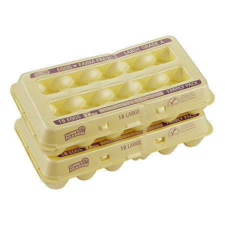 Sunny Meadow Large Grade A Eggs (18 ct., 2 pk.)