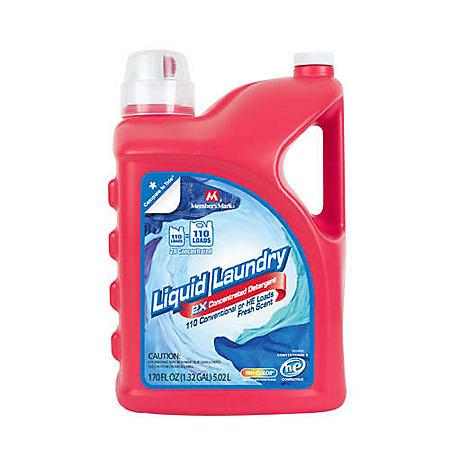 Member's Mark 2X Liquid Laundry Detergent - 170 oz. - 110 loads