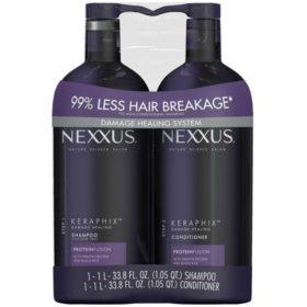 NEXXUS Keraphix Damage Healing Shampoo and Conditioner (2 pk., 33.8 fl. oz.)