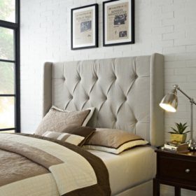 Collins Tufted Wing Back Panel Headboard - Full/Queen