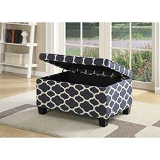 Jessa Upholstered Storage Ottoman