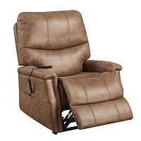 Pulaski Karmen Dual Motor Upholstered Lift Chair (Warm Brown)