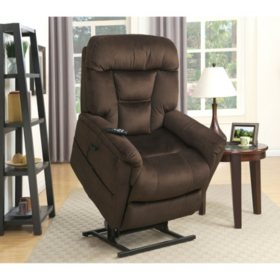 Kellar Dual Motor Lift Chair - Dark Brown