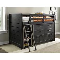 Brooks Twin Mid-Loft Bed, Dresser and Bookcase Set