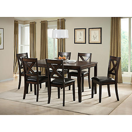 Walker 7 Piece Dining Set Sam S Club