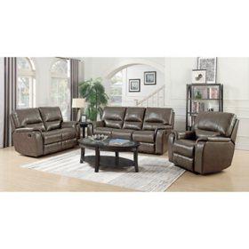 Houston 3-Piece Leather Set