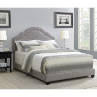 Home Meridian Florence Nailhead Trim Upholstered Bed Deals