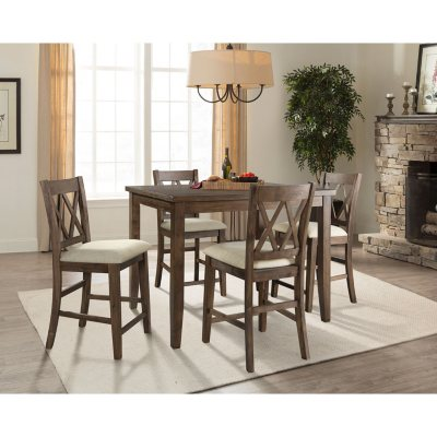 Awe Inspiring Oliver 5 Piece Counter Height Dining Set Sams Club Spiritservingveterans Wood Chair Design Ideas Spiritservingveteransorg