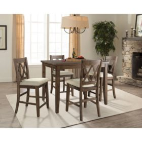 Oliver 5-Piece Counter-Height Dining Set
