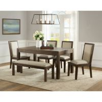 Home Meridian Hayden 6-Piece Dining Set with Bench