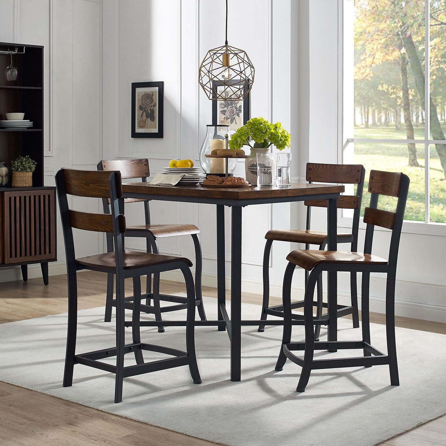 Maddox 5-Piece Counter-Height Dining Set