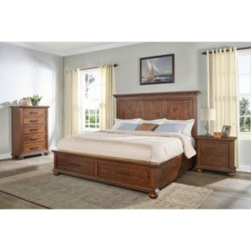 Coronado Aged Cherry Storage Bedroom Set (Assorted Sizes ...