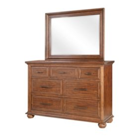 Coronado 7-Drawer Dresser and Mirror