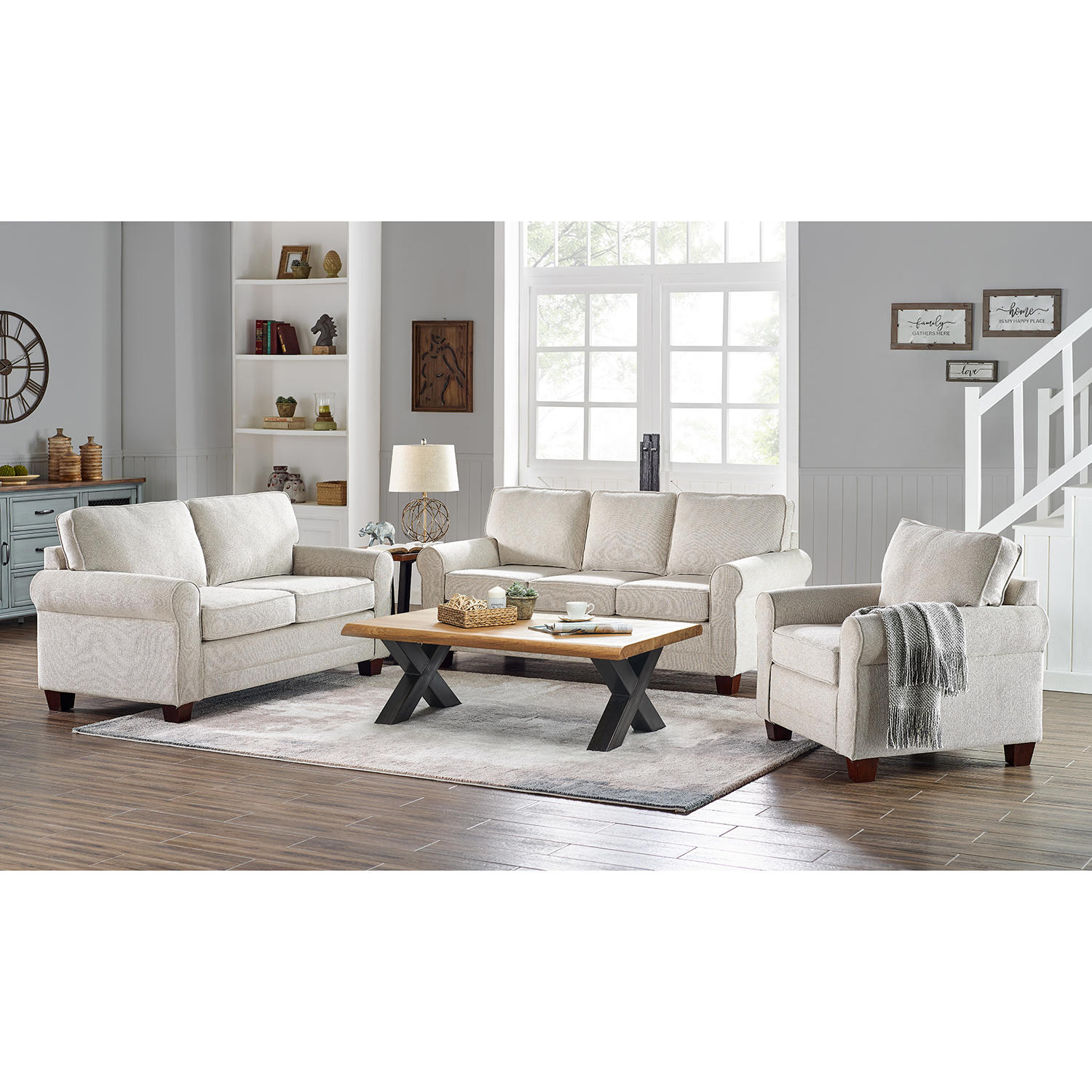 Home Meridian Loveseat & Chair Collection Adaline Sofa