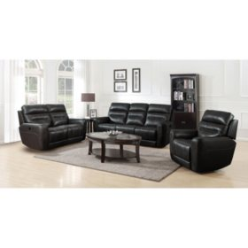 Sensational Broderick 3 Piece Power Reclining Sofa Loveseat And Ocoug Best Dining Table And Chair Ideas Images Ocougorg
