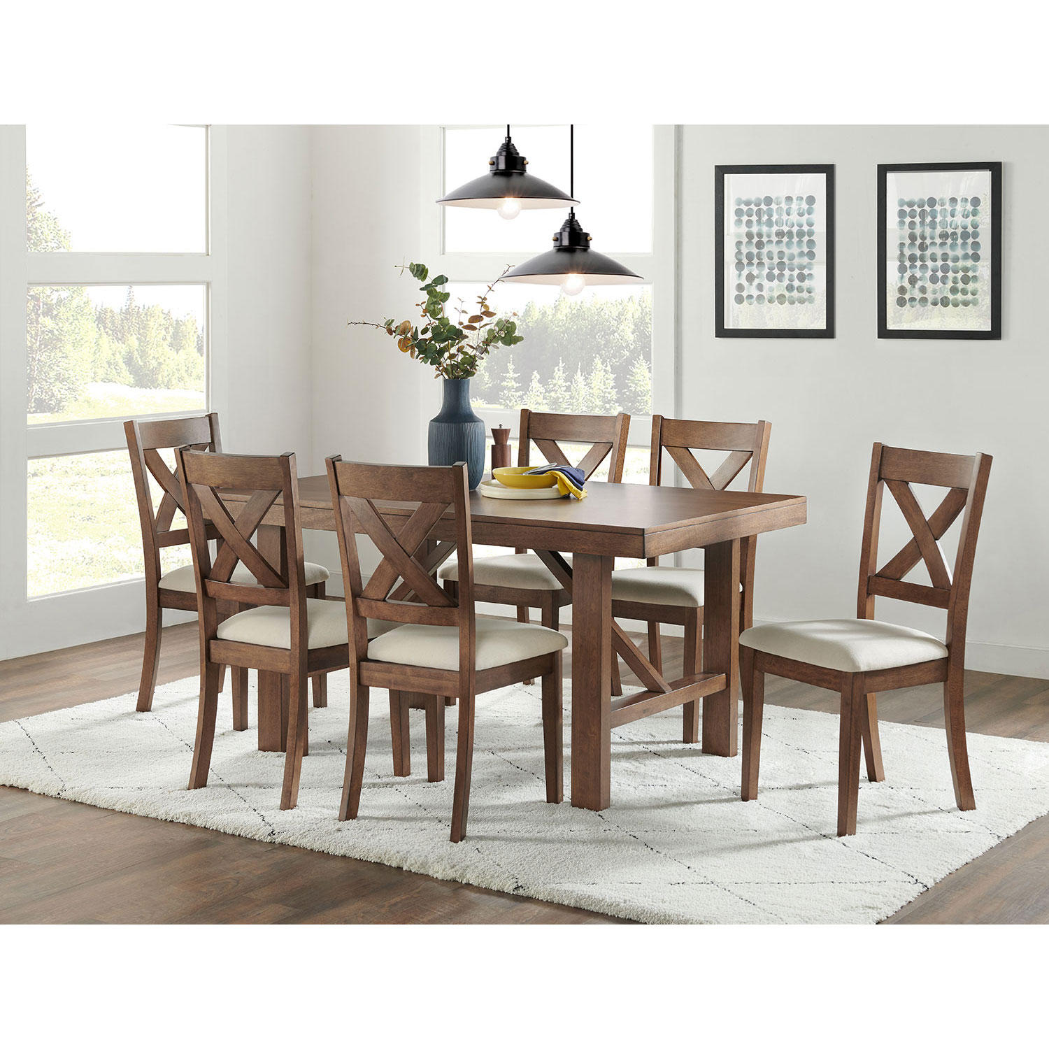 7-Piece Home Meridian Brookhaven Dining Set