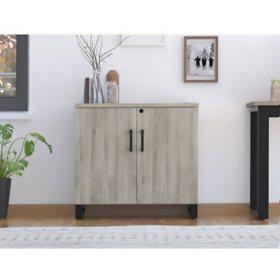 Apex Storage Cabinet, Weathered Oak