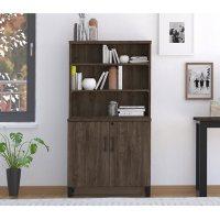Apex Storage Cabinet & Bookshelf, Walnut
