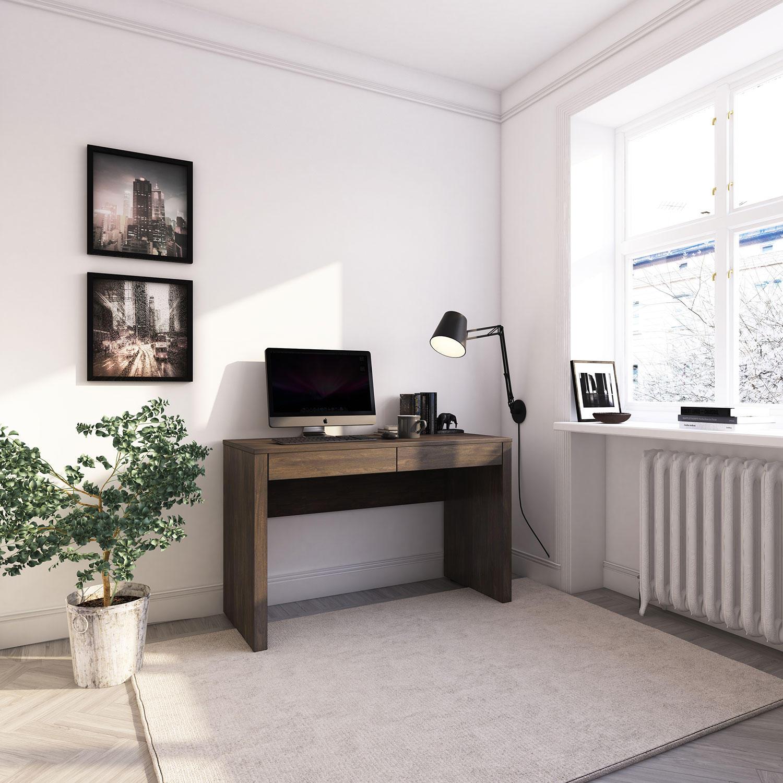 HMidea Nova Modern Desk (Walnut)