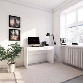 Nova High Gloss Modern Desk, White
