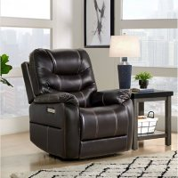 Marlow Leather Power Recliner with Power Headrest and USB, Assorted Colors