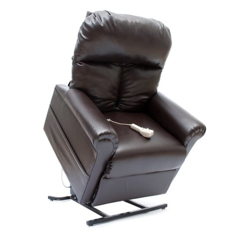 Mega Motion Easy Comfort LC-100 Infinite Position Power Recline and Lift Chair - Chestnut Vinyl
