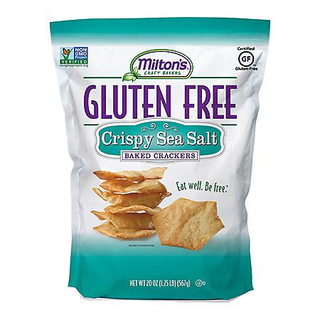 Milton's Gluten-Free Crispy Sea Salt Crackers (20 oz.)