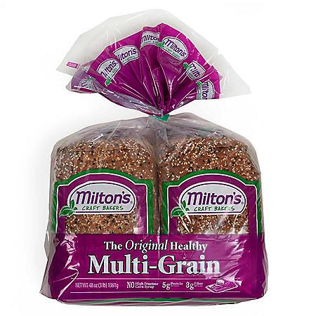 Milton's Craft Bakers Original Multi-Grain Bread (24 oz. loaf, 2 pk.)