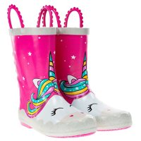 Western Chief Girls' Waterproof Warm Faux Fur Lined Rubber Rain Boots