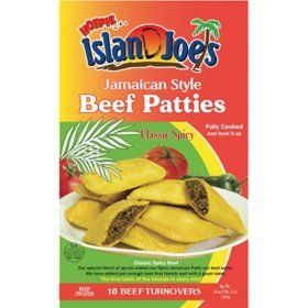Island Joe's Jamaican Style Beef Turnover Patties, Classic Spicy, Frozen (10 ct.)