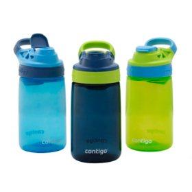 Contigo Gizmo Sip Autoseal 14 oz. Kids Water Bottles, 3 pk. (Assorted Colors)