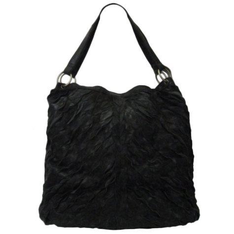 Sasha Pieced Leather Tote Bag - Black